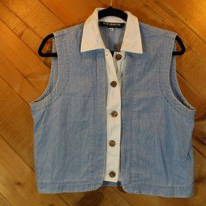Vintage New Frontier Denim Sleeveless Top Medium